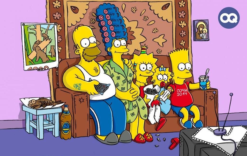 Поздравление маме, прикольные картинки симпсонов