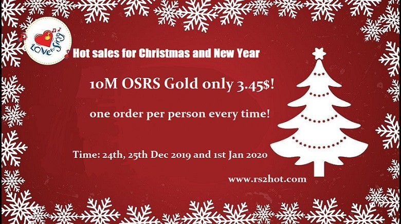 Rs07 Christmas Event 2020 Enjoy 60% Discount of OSRS Gold for Christmas Day 2019 on Rs2hot